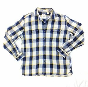 Levi's Flannel Button Up Long Sleeve Shirt